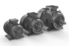 Industrial electric motors Royalty Free Stock Photo