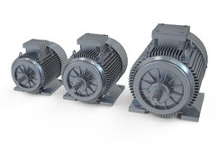 Industrial electric motors Stock Photography