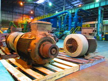 Industrial electric motors. Stock Photos