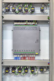 Industrial electrical panel with electronic devices for relay protection and process controlling Royalty Free Stock Photo