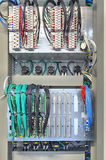 Industrial electrical panel with electronic devices for relay protection and process controlling Royalty Free Stock Photography