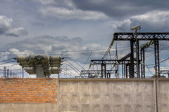 Industrial electrical substation Royalty Free Stock Images