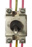 Industrial electrical switch with multi-colored wires Stock Images