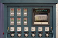 Industrial electrical switch panel in control room. Of factory royalty free stock images