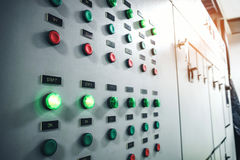 Industrial electrical switch panel. Concept royalty free stock image