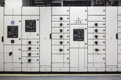 Industrial electrical switch panel Royalty Free Stock Images