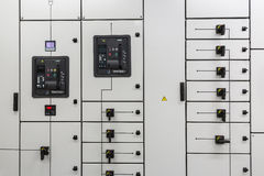 Industrial electrical switch panel Royalty Free Stock Photo