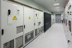 Industrial electrical switch panel Stock Photos