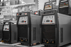 Industrial electricity inverters Stock Images