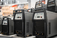 Industrial electricity inverters Stock Photography
