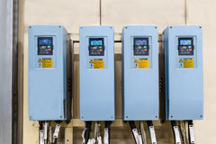Industrial electricity inverters in a factory Stock Photography