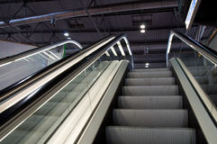 Industrial elevators, futuristic interior Stock Photography