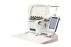 Industrial Embroidery Machine Stock Photo
