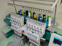 Industrial Embroidery Machine royalty free stock image