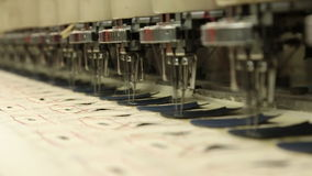 Industrial embroidery and sewing machine stock video