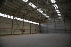 Industrial empty shop. Or factory space Stock Photo