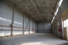 Industrial empty shop. Or factory space Royalty Free Stock Photography