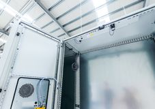 Industrial enclosure for electricity, power royalty free stock image