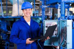 Industrial engineer computer Royalty Free Stock Photo