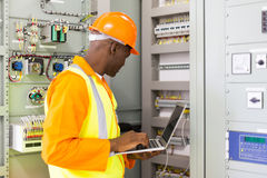 Industrial engineer computerized machine Royalty Free Stock Photography