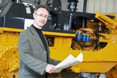 Industrial engineer manager Stock Photo