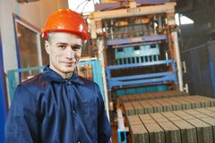 Industrial engineer worker at control panel Stock Photos
