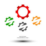 Industrial engineering logo Royalty Free Stock Photography
