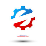 Industrial engineering logo Royalty Free Stock Image