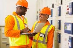 Industrial engineers working stock image