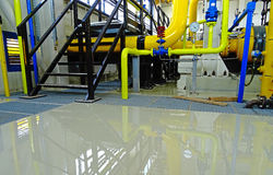 Industrial epoxy floor Stock Photo