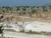 Industrial equepment in an open pit mine Stock Image