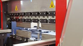 Industrial equipment - automate machine at factory. Close up stock footage