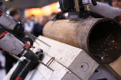Industrial equipment. And construction tools at the factory Stock Photos