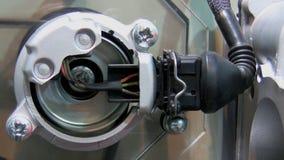 Industrial equipment detail stock video