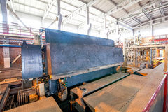 Industrial equipment at the factory in  production hall Royalty Free Stock Photography