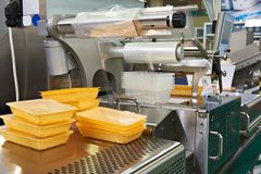 Industrial equipment for food packaging. In factory Stock Photography