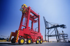 Industrial equipment at freight terminal Stock Photography
