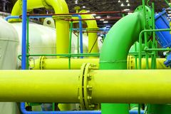 Pipeline. Industrial zone Stock Photo