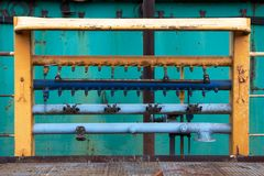 Industrial Equipment at Shipyard Stock Photography
