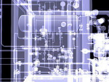 Industrial equipment. X-Ray render Royalty Free Stock Photos