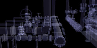 Industrial equipment. X-Ray render Royalty Free Stock Images