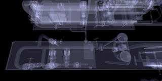 Industrial equipment. X-Ray render Stock Images