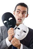 Industrial espionage concept - masked businessman Stock Image