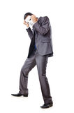Industrial espionage concept - masked businessman Stock Photography