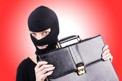 Industrial espionage concept with person Stock Image