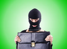 Industrial espionage concept with person in Royalty Free Stock Photos