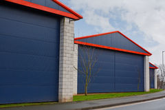 Industrial estate buildings Stock Image