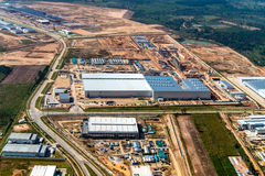 Industrial estate land development Stock Image