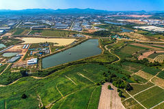Industrial Estate Land Development Water Reservoir Farming aeria Stock Images