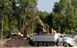 Industrial Excavator Stock Photography